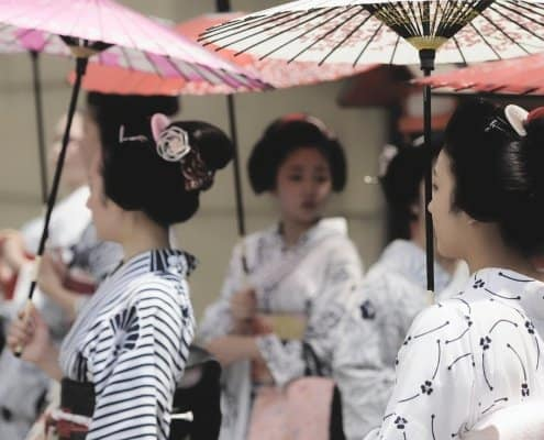 Geisha in Gion District, Kyoto