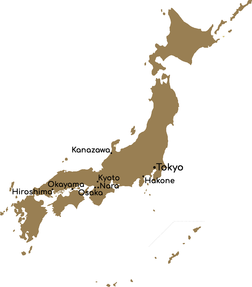 Map Sakura- tour Japan