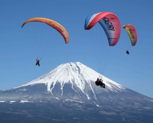 The best view of Mount Fuji Paragliding in Shizuoka