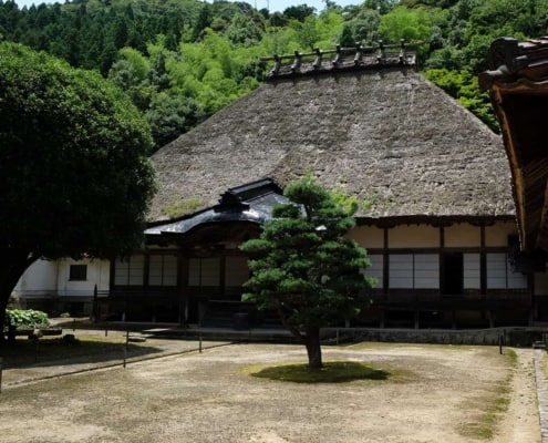 Tatched house in Tsuwano, Shimane